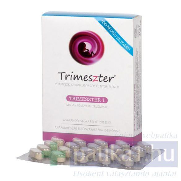 Trimeszter 1 vitamin tabletta várandósoknak jódmentes 60 db