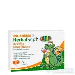 Dr. Theiss HerbalSept Kids nyalóka torokfájásra 6 db