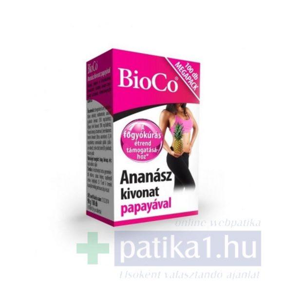 BioCo Ananász kivonat papayával 100 db megapack