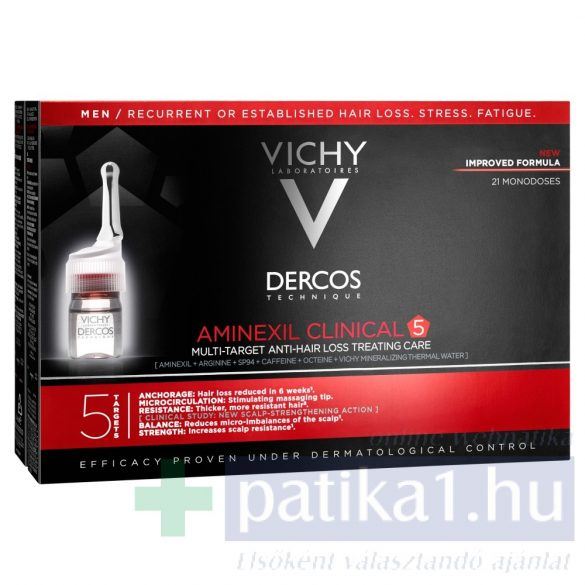 Vichy Dercos Aminexil Clinical 5 - Férfiaknak 21x6 ml