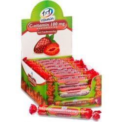 Vitaplus 1x1 Vitaday C-vitamin 100 mg rágótabletta eper íz 17 db