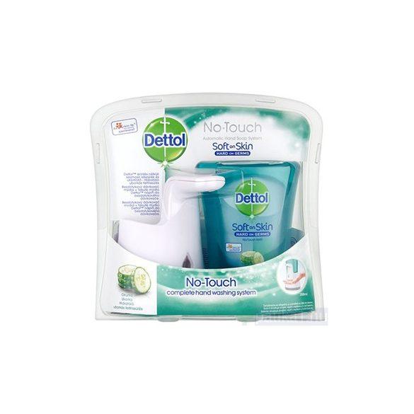 Dettol érintés nélküli kézmosó készülék + szappan (uborkás) csomag