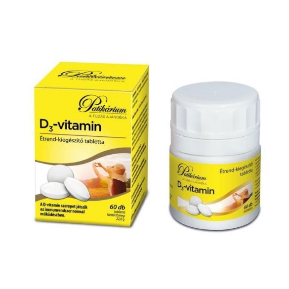 Patikárium D3-vitamin 2000 NE tabletta 60 db
