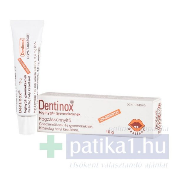 Dentinox fogínygél gyermekeknek 10 g