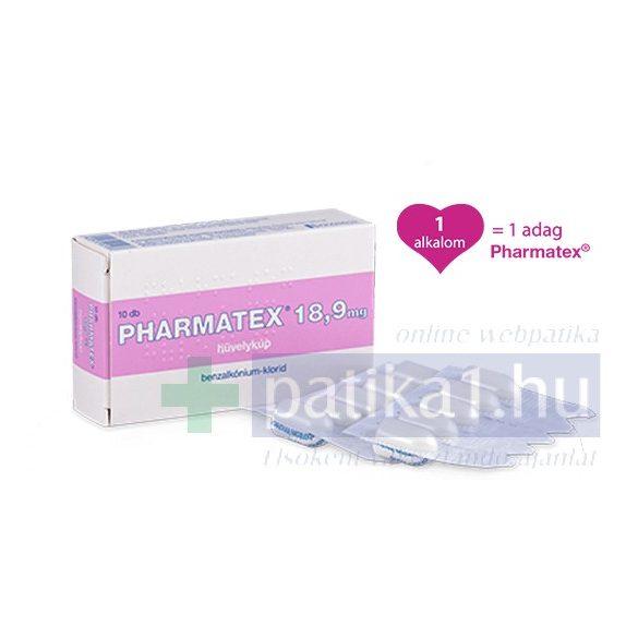 Pharmatex 18,9 mg hüvelykúp 10 db