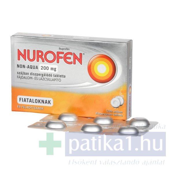Nurofen Non-Aqua 200 mg szájban diszperg. tabletta 12 db