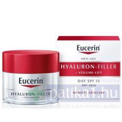 Eucerin Hyaluron-Filler+Volume Lift Bőrfeszesítő nappali arckrém száraz bőrre