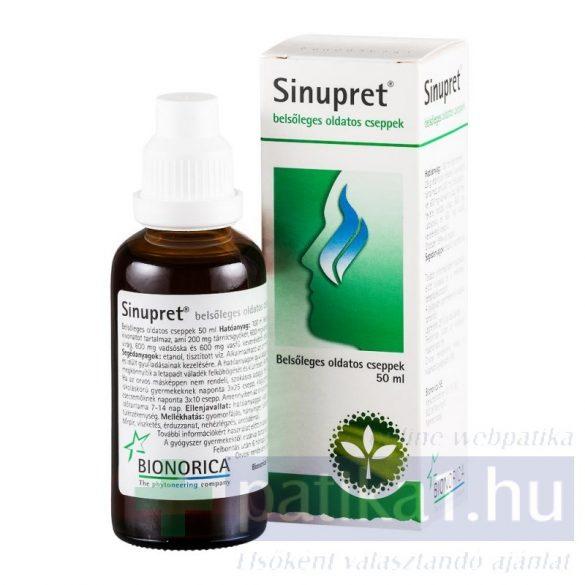 Sinupret belsőleges oldatos cseppek 50 ml