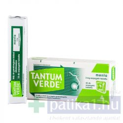 Tantum Verde menta 3 mg szopogató tabletta 20 db