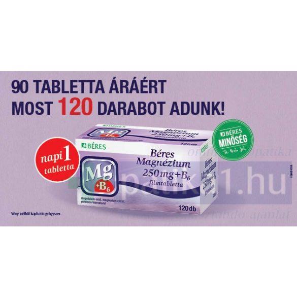 Béres Magnézium 250 mg + B6 filmtabletta 120 db