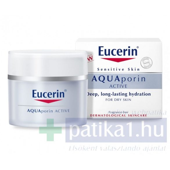 Eucerin AQUAporin ACTIVE Hidratáló arckrém száraz, érzékeny bőrre 50 ml