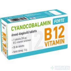 Cyanocobalamin Forte 250 mcg tabletta 50 db B12 vitamin