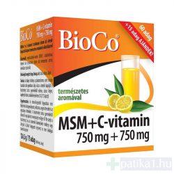BioCo MSM+C-vitamin 750+750 mg étrendkiegészítő por 75 adag