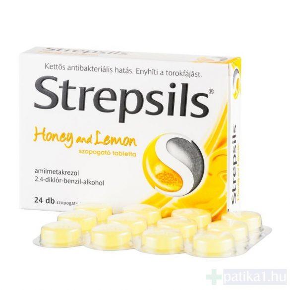 Strepsils Honey and lemon szopogató tabletta 24 db mézes citromos