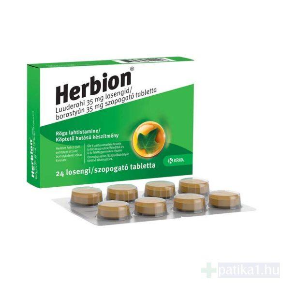 Herbion borostyán 35 mg szopogató tabletta 24 db 2021.12.31.