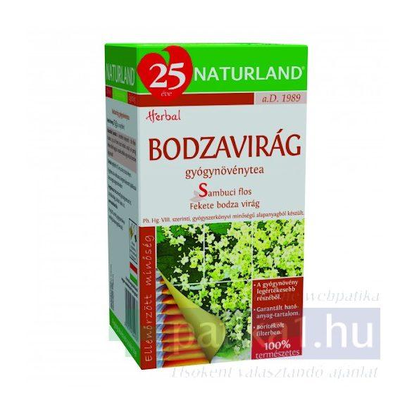 Bodzavirág (Sambuci flos) filteres 25x1g Naturland