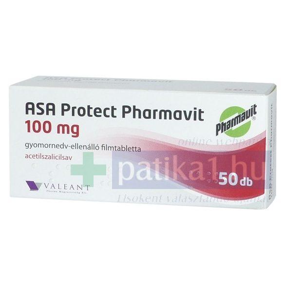ASA Protect Pharmavit 100 mg gyomornedv-ellenálló filmtabletta ASA EP 50 db