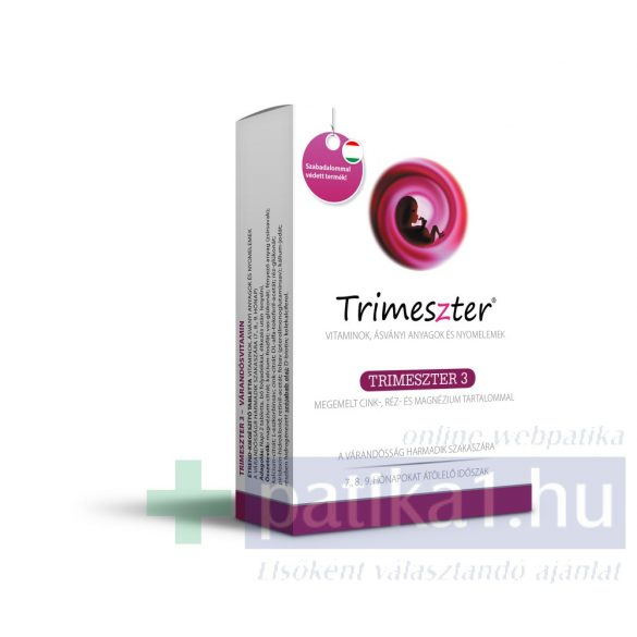 Trimeszter 3 vitamin tabletta várandósoknak 60 db