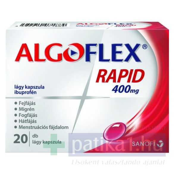 Algoflex Rapid 400 mg lágy kapszula 20 db