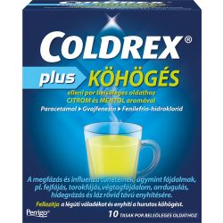 Coldrex Plus köhögés elleni por 10 db - közeli lejárat 2021.09.30.