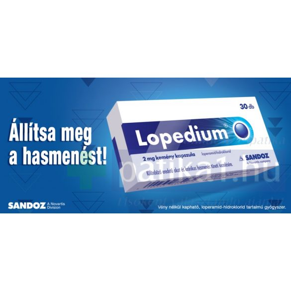 Lopedium 2 mg kemény kapszula 30 db