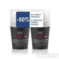 Vichy Homme deo DUO intenzív izzadásszabályozó golyós deo 2x50 ml