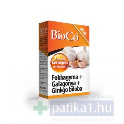 BioCo Fokhagyma Galagonya Ginkgo Biloba tabletta 80 db