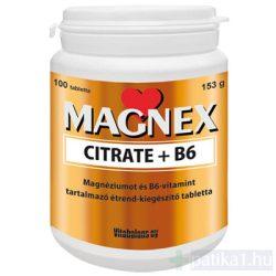 Magnex Citrate + B6 Magnézium tabletta 100 db