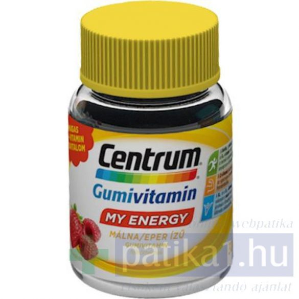 Centrum My Energy gumivitamin málna-eper 30 db