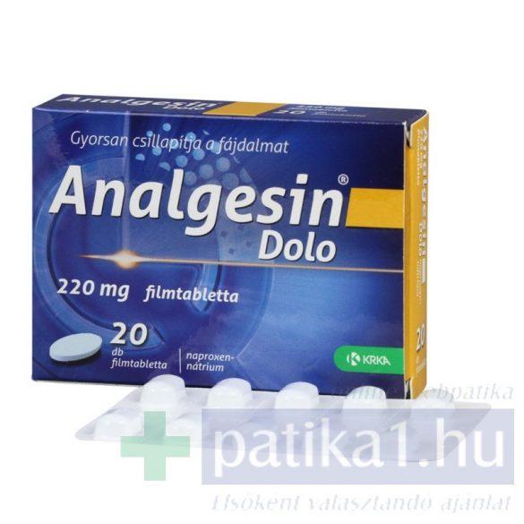 Analgesin Dolo 220 mg filmtabletta 20 db