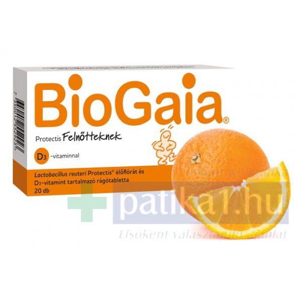 BioGaia ProTectis Felnőtt D-vitamin rágótabletta 20 db