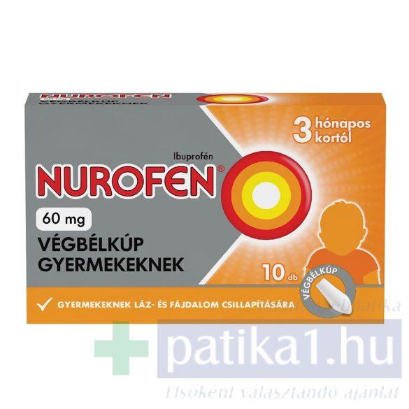 Nurofen 60 mg végbélkúp gyerekeknek 10 db