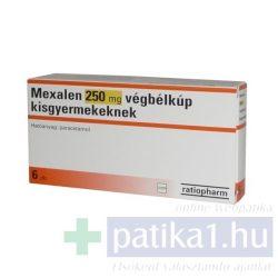 Mexalen 250 mg végbélkúp kisgyermekeknek 6 db