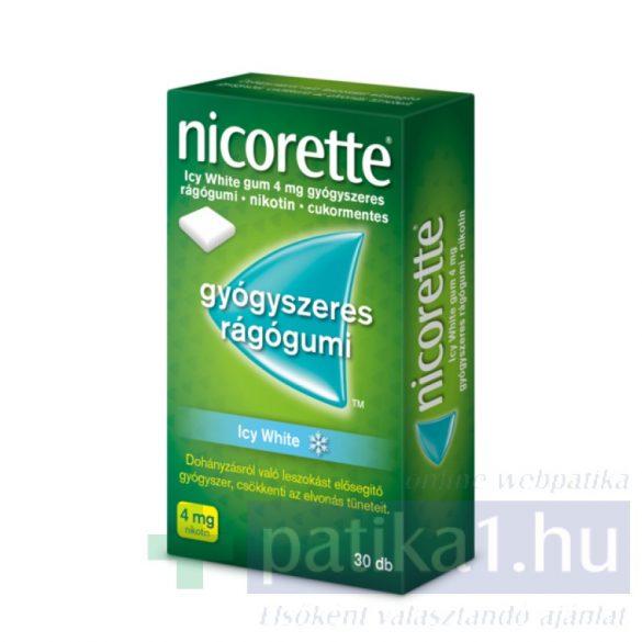 Nicorette Icy White gum 4 mg 30 db nikotinos rágó
