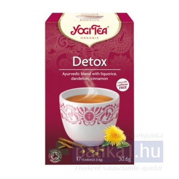YogiTea Bio méregtelenítő tea 17 db