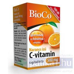 BioCo C-vitamin 500 mg rágótabletta narancs 100 db