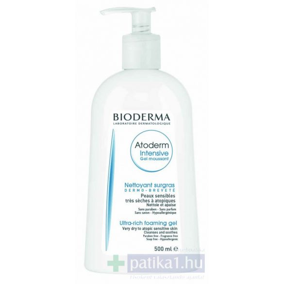 Bioderma Atoderm Intensive gel moussant intenzív habzó gél 500 ml