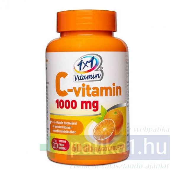 Vitaplus 1x1 Vitaday C-vitamin 1000 mg rágótabletta narancs 60 db