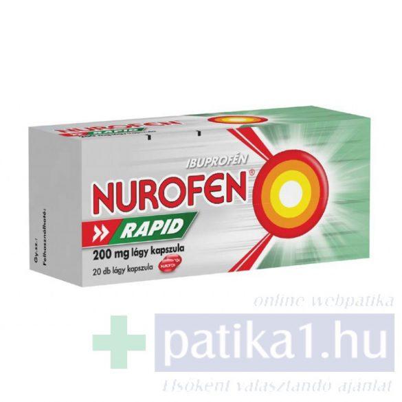 Nurofen Rapid 200 mg lágy kapszula 20 db