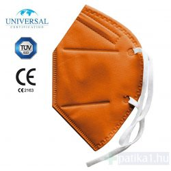 FFP2 NARANCS szájmaszk 1 db CE 2163 egyenként csomagolt Yunyifu