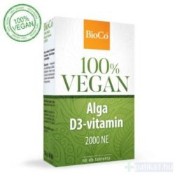 BioCo Vegan Alga D3-vitamin 2000 NE tabletta 60 db 100% vegán