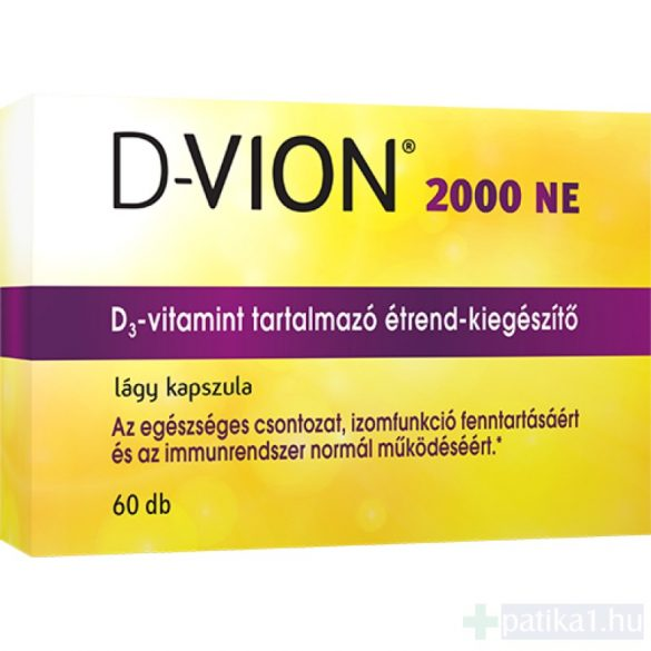 D-Vion D3 vitamin 2000 NE kapszula 60 db