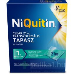 NiQuitin Clear 21 mg transzdermális tapasz 7 db - dohányzásról leszoktatás 1. lépés