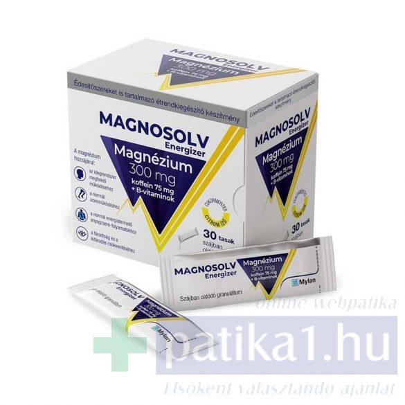 Magnosolv Energizer 300 mg granulátum citrom ízű 30 db