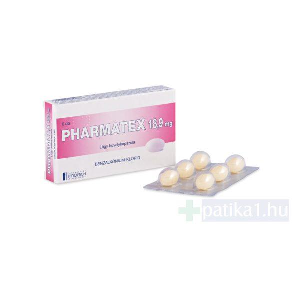 Pharmatex 18,9 mg lágy hüvelykapszula 6 db