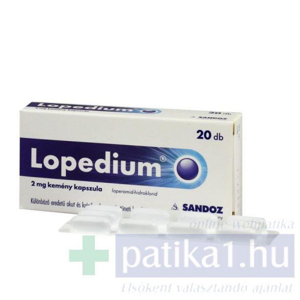 Lopedium 2 mg kemény kapszula 20 db