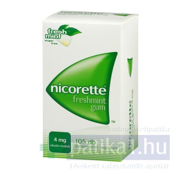 Nicorette Freshmint gum 4 mg 105 x gyógyszeres rágógumi