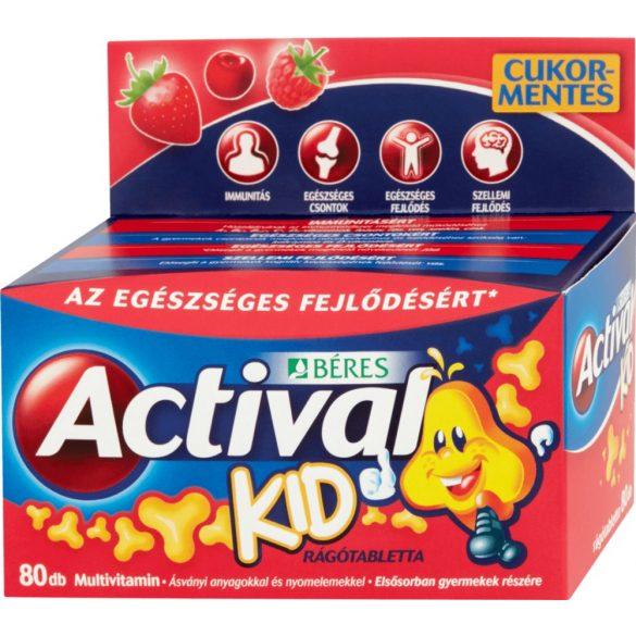 Actival Kid rágótabletta 3 ízben 80 db