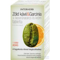 Interherb Zöld Kávé + Garcinia tabletta 60x - közeli lejárat 2021.08.31.