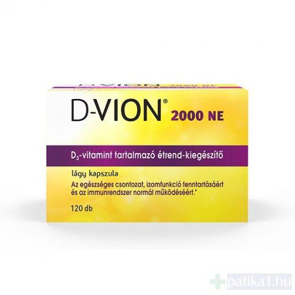 D-Vion D3 vitamin 2000 NE kapszula 120 db